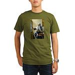 Pitcher / Bearded Collie Organic Men's T-Shirt (da
