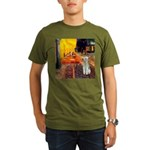 Cafe / Bedlington T Organic Men's T-Shirt (dark)
