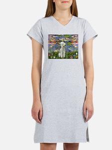 Lilies / Bedlington T Women's Nightshirt