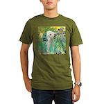 Irises /Bedlington T Organic Men's T-Shirt (dark)