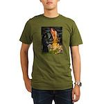 Fairies /Belgian Sheepdog Organic Men's T-Shirt (d