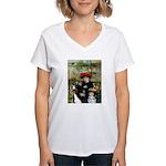 2 Sisters & Bernese Women's V-Neck T-Shirt