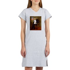 Lincoln & his Bichon Women's Nightshirt