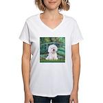 Bridge & Bichon Women's V-Neck T-Shirt