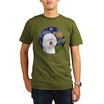 Starry Night Bichon Organic Men's T-Shirt (dark)