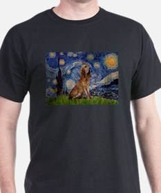Starry Night Bloodhound T-Shirt