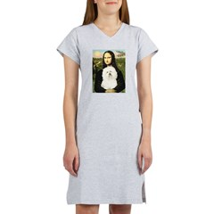 Mona and her Bolognese Women's Nightshirt