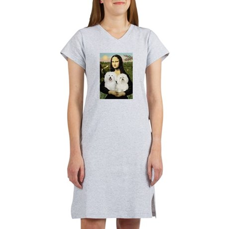 Mona's 2 Bolognese Women's Nightshirt