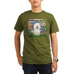 Lilies (#2) & Bolognese Organic Men's T-Shirt (dar