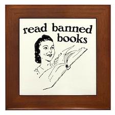 Read Banned Books Framed Tile