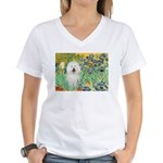 Irises & Bolognese Women's V-Neck T-Shirt