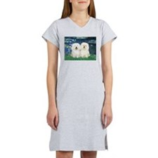 Lilies (#5) & 2 Bolognese Women's Nightshirt