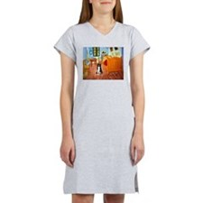 Room with Border Collie Women's Nightshirt