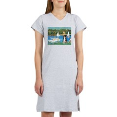 Sailboats & Border Collie Women's Nightshirt