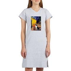 Cafe / Border Collie (Z) Women's Nightshirt