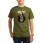 Mona & Border Terri Organic Men's T-Shirt (dark)