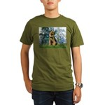 Lilies 1 / Border T Organic Men's T-Shirt (dark)