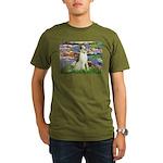 Borzoi in Monet's Lilies Organic Men's T-Shirt (da