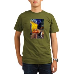 Cafe & Boston Terrie Organic Men's T-Shirt (dark)