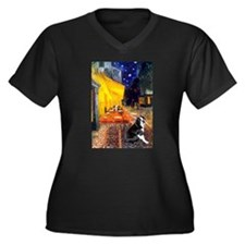 Cafe & Boston Terrie Women's Plus Size V-Neck Dark