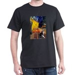 Cafe & Boston Terrie Dark T-Shirt