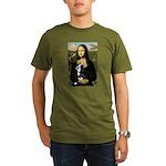Mona & her Boston Ter Organic Men's T-Shirt (dark)