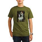 Ophelia & Boston Terrier Organic Men's T-Shirt (da
