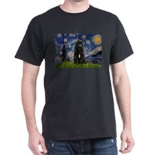 Starry Night Bouvier T-Shirt