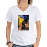 Cafe & Bouvier Women's V-Neck T-Shirt
