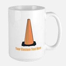 Traffic Cone and Your Text. Mug