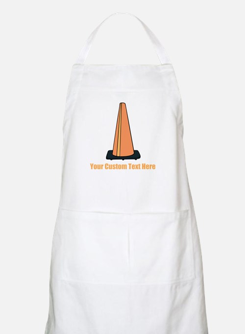 Traffic Cone and Your Text. Apron