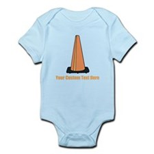 Traffic Cone and Your Text. Infant Bodysuit