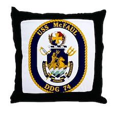 USS McFaul DDG 74 Throw Pillow