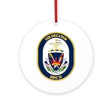 USS Decatur DDG 73 Ornament (Round)