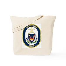USS Decatur DDG 73 Tote Bag