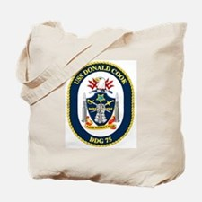 USS Donald Cook DDG 75 Tote Bag