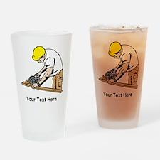 Carpenter, Black Text. Drinking Glass
