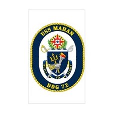 USS Mahan DDG 72 Rectangle Decal
