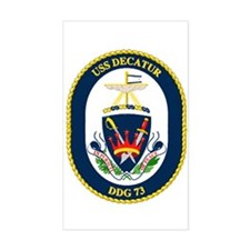 USS Decatur DDG 73 Rectangle Decal