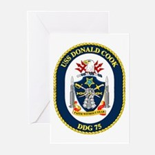 USS Donald Cook DDG 75 Greeting Cards (Pk of 10)