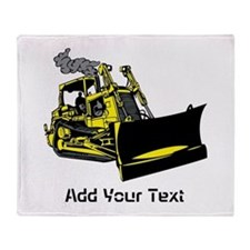 Site Vehicle and Text. Throw Blanket