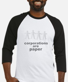 corporations are paper 02 Baseball Jersey