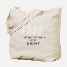corporations are paper 02 Tote Bag