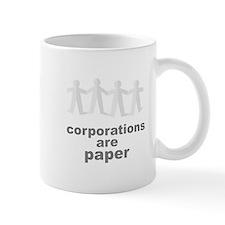corporations are paper 02 Mug