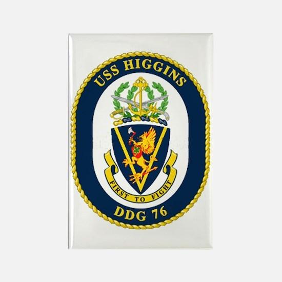 USS Higgins DDG 76 Rectangle Magnet