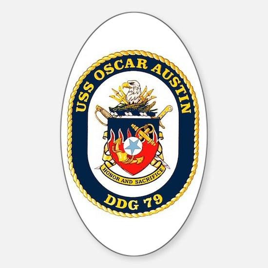 USS Oscar Austin DDG 79 Oval Decal