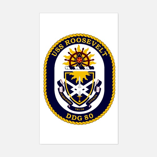 USS Roosevelt DDG 80 Rectangle Decal