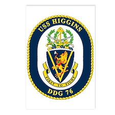 USS Higgins DDG 76 Postcards (Package of 8)