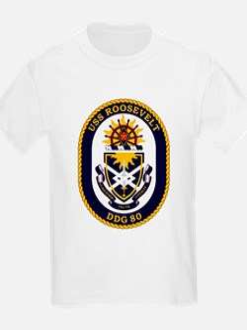 USS Roosevelt DDG 80 Kids T-Shirt