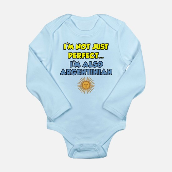 Not Just Perfect Argentinian Onesie Romper Suit